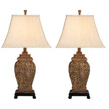 "Fallon 30"" H Table Lamp with Bell Shade (Set of 2)"