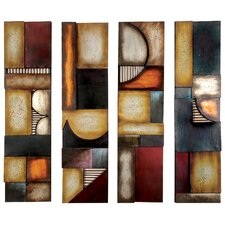 4 Piece Abstract Wall Decor Set