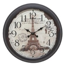 "22"" Eiffel Tower Wall Clock"