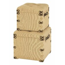 Ottoman Storage Trunks (2 Piece Set)