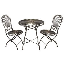 Lucille 3 Piece Bistro Set
