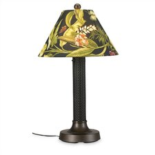 Bahama Weave Outdoor Thick Weave Table Lamp with Sunbrella® Shade