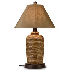 "South Pacific 33"" H Table Lamp with Bell Shade"