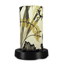 PatioGlo LED Bright White Table Lamp with Fish Bowl Fabric Cover