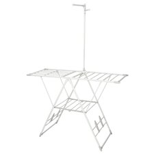 Drying Rack with Clothes Hanger Bar