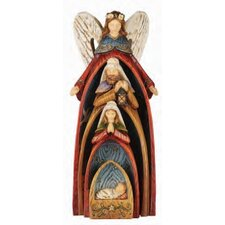 4 Piece Angel with Holy Family Figurine