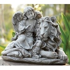 Angel, Lion And Lamb Statue
