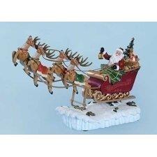 Mus Santa Sleigh Rocking Figurine