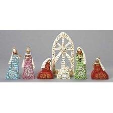 7 Piece Nativity Word Figurine Set