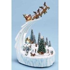 Mus Winter Santa and Carriage Figurine