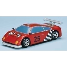 Mus Race Car with Track and Santa Figurine