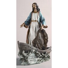 Christ as Fisher Man Figurine