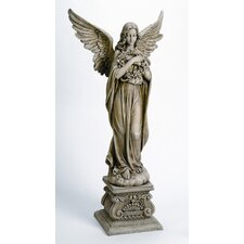 <strong>Roman, Inc.</strong> Angel Holding Wreath Statue