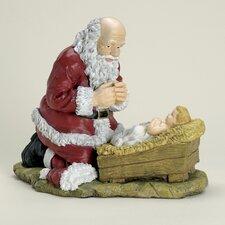 Kneeling Santa Christmas Figurine