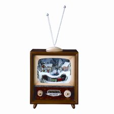 Small Musical TV with Revolving Train