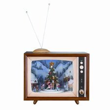 Large Musical Rotating TV Box