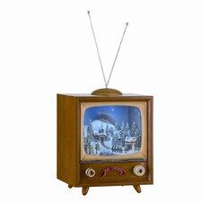 Small Musical Rotating TV Box