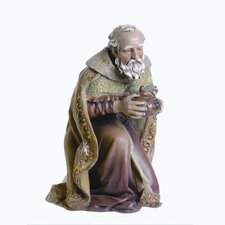 Kneeling Wise Man Color Figurine
