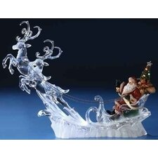 LED Santa on Sleigh with Deer