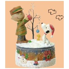 Musical Charlie and Snoop Decorative Tree Figurine