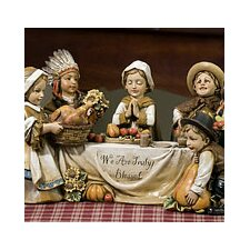 Kid Pilgrim Scene Figurine