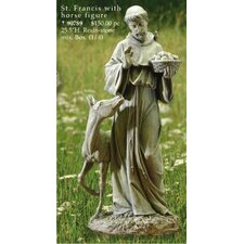 St. Francis with Horse Figurine