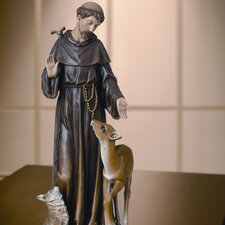 <strong>Roman, Inc.</strong> Renaissance St. Francis with Deer Figurine