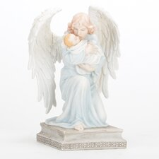 Kneeling Angel with Baby Figurine