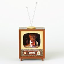 Rotating Musical Halloween TV Figurine