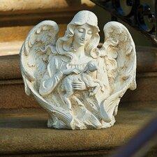 Angel with Lamb Garden Statue