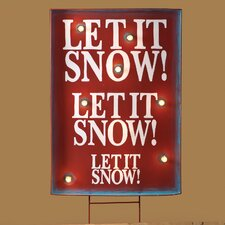 Lighted Let It Snow Sign Stake