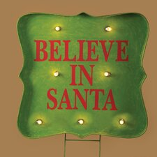Lighted Believe Sign Stake Yard