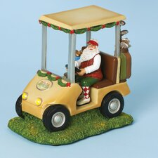 Musical Golf Cart with Santa Figurine