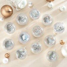 12 Piece Glass Wedding Ornament Set