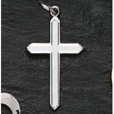 Sterling Silver Brushed Cross Pendant