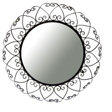 Wrought Iron Round Wall Mirror