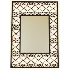 "<strong>Ashton Sutton</strong> Fashionable Mirror 26"" H x 19"" W Wall Mirror"
