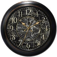 "Decorative Home 18"" World Map Wall Clock"