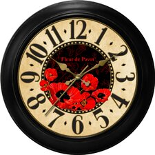 Decorative Home Poppy Dial Wall Clock