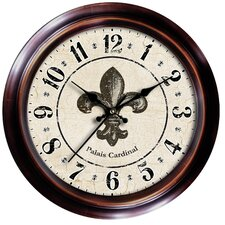 "<strong>Ashton Sutton</strong> Decorative Home 18"" Fleur-de-Lis Wall Clock"