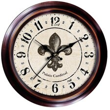 Decorative Home Fleur-de-Lis Wall Clock
