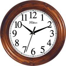 "12"" Round Quartz Analog Solid Wood Case Wall Clock"