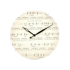 "<strong>Ashton Sutton</strong> 16"" Music Note Wall Clock"