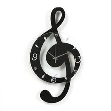 <strong>Ashton Sutton</strong> Musical Cleff Wall Clock