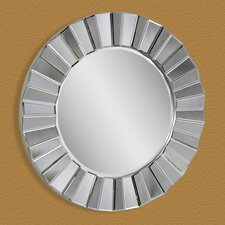 """Pleated"" Edge Decorative Mirror"