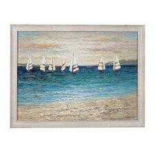 Sailing Regatta Framed Painting Print on Canvas