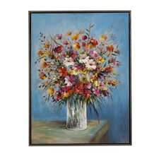 Vase in the Window Framed Painting Print on Canvas