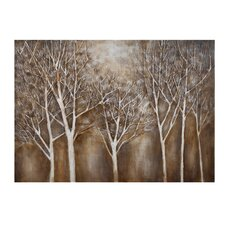 Aspens Painting Print on Canvas in Gold