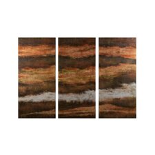 3 Piece Ebb and Flow Painting Print on Canvas