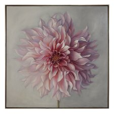 Peony Framed Painting Print on Canvas in Pink